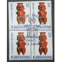 Estampilla Argentina Cuadro X 4 Primer Dia Unesco 1969