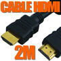 Cable Premium Hdmi Hdmi 2 Mtrs Full Hd1080p Ficha Oro Led 3d
