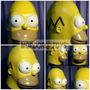 Homero Máscara De Látex The Simpsons Halloween Mordortoys