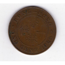 Hong Kong Colonia Britanica 1 Cent Año 1923