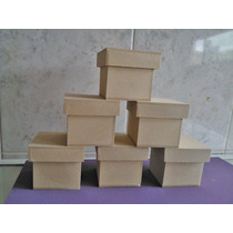 Cajitas De Fibrofacil De 7x7x7 Con Tapa Zapato