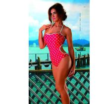 Trikini A Lunares Color Roja Taza Soft T 4 $ 690