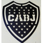 Logo Escudo Futbol Boca Juniors En Acero Inoxidable 30 Cm