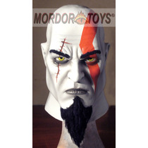 Kratos God Of War Máscara De Látex Halloween Mordortoys