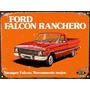 Cartel De Chapa Publicidad Ford Falcon Ranchero Y298