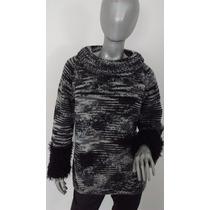 Sweater Abrigo Pullover Tejido A Mano - Unico