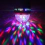 Foco Lampara Led Rgb Giratoria Combina Colores Bola Novedad