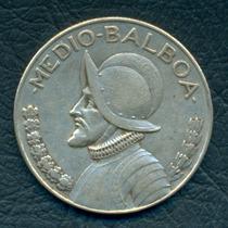 Moneda Panamá 1933 1/2 Balboa Km#12.1 (plata)