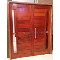 Portón Puerta Madera Cedro Maciza Exterior Portada 160 Cm