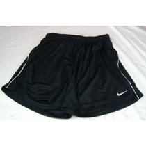 Short Pantalón Corto Fútbol Nike Negro Blanco Mujer L 40 42