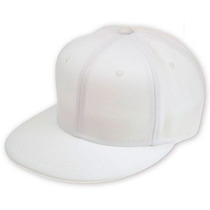 Gorra Visera Plana Lisa Color Blanca Entera