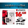 Memoria Micro Sd 16gb Kingston Hc Clase 4 Camara Celular