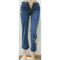 Cheeky Pantalon Capri T 12 Jeans Elastizado Bordado (ana.mar