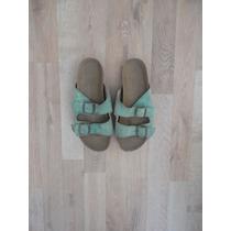 Sandalias Turquesas Tipo Birkenstock