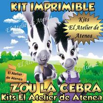 Kit Imprimible Zou La Cebra - Invitaciones Y Mas