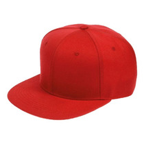 Gorra Visera Plana Lisa Color Roja Entera