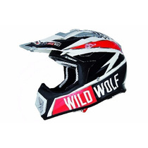 Casco Shiro Cross Mx 912 Wild Wolf Motocross Freeway Motos !