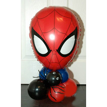 Hombre Araña Con Base De Globos Para Apoyo En Mesa