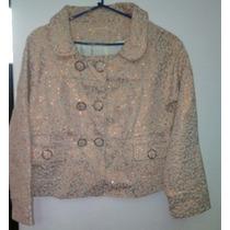 Blazer Tapado Saco India Style Zara. 2 Usos