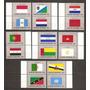 Naciones Unidas Serie Banderas Yvert N°547/62 Mint U$s28.-