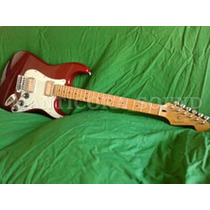 Fender Stratocaster Maple Candy Red Blacktop Mexico Permuto