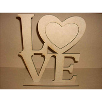 Portarretrato Love Corazón De Fibrofácil