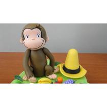 Jorge El Curioso -mono-adorno Torta-porcelana Fria-souvenirs