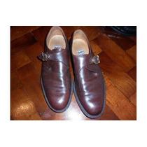 Zapatos / Mocasines De Cuero P/hombre Con Hebilla , Mc Shoes