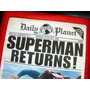 Superman Returns Daily Planet Periodico - Souvenir Original