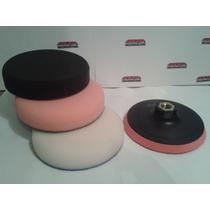 Combo Kit Backing Plate + 3 Pasos Pad Poliespuma 3 Pulgadas
