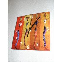 Reloj Ahi Tenes La Puerta - Negras Africanas - 20x20