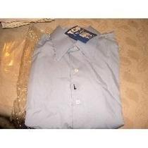 Camisa De Vestir O Para El Colegio Celeste Talle L Uniforme