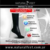 Natural Feet - Media Con Hilos Ce Plata X-static