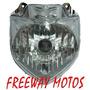 Optica Farol Delantera Yamaha Ybr 250 Fazer En Freeway Motos