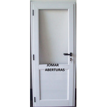 Puerta De Aluminio Linea Modena Hermética0.80x2.00 1/2vidrio