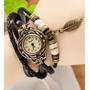 Reloj Vintage Cuero Dije Retro Dama Mujer Nuevos Modelos