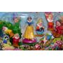 Disney Blister Muñecos Blancanieves + 7 Enanitos Torta Colec