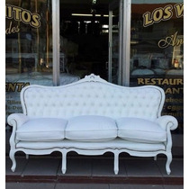 Antiguo Sillon Colonial Luis Xv-xvi-ingles-frances