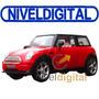 Auto Mini Cooper Radio Control Inmenso 27cm Luces Delanteras