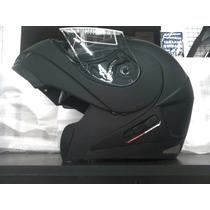 Casco Rebatible Helmet Motowear Negro Mate En Motopark!