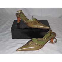 Zapatos De Mujer Ricky Sarkany En Cuero - Nuevo