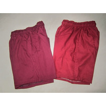Short Colegiales Gris Y Bordo