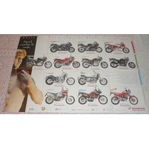 Poster Folleto Motos Honda 1994 Modelos Cbr Africa Transalp