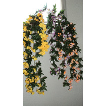Planta Artificial Con Flores Ideal Colgante 83 Cm