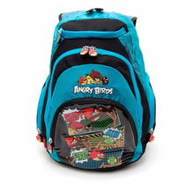 Mochila Angry Birds 16 - Color Azul Con Estampa