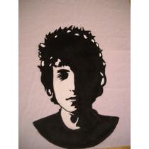 Remera Pintada A Mano Bob Dylan