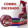 Combo Encerado Meguiars Cleaner Wax + Quik Detailer + Micro