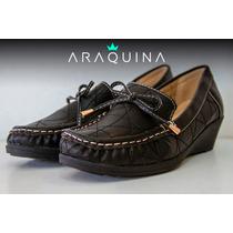 Zapato Mocasin Cuero Dama Mujer - Calzado Nautico - Araquina