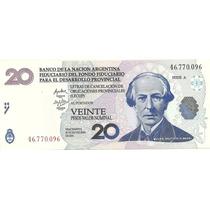 Billete Bono 20 Lecops Año 2001 Sin Circular