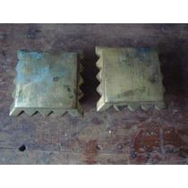 Antiguos Terminales De Bronce Para Cama Lote De 2 Tapones